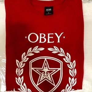 Obey Red Logo Graphic Tshirt (M)